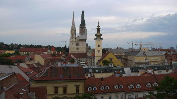 Zagreb desde las alturas