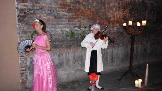 La princesa buena en la obra en la calle de los Secretos de Gric