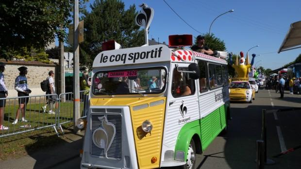 El camión de Le Coq Sportif