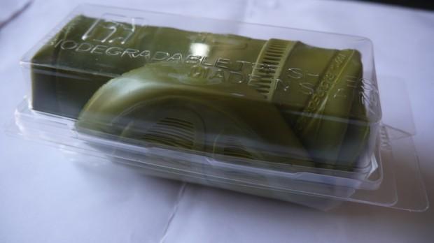 ¿Qué es esto? Esto es la caja con los zapatos plegados