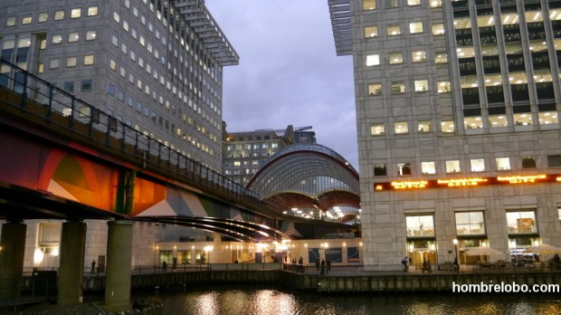Canary Wharf, Londres, la estación de metro