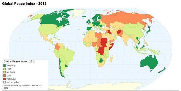 Los países más pacíficos del mundo