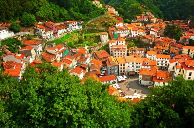 Vista de Cudillero, Asturias