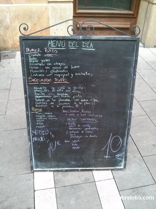 El engaño del menú de 10€ en Pamplona