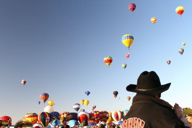 Ascensión de globos en la Albuquerque International Balloon Fiesta en 2012