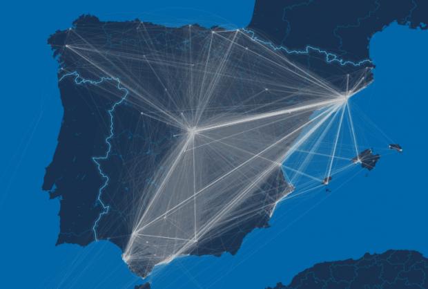 Desplazamientos de turistas en España