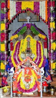 Hombuja-Humcha-Jain-Math-2019-Rathotsava-Simhavahanotsava-0003-Goddess-Padmavati-Decoration