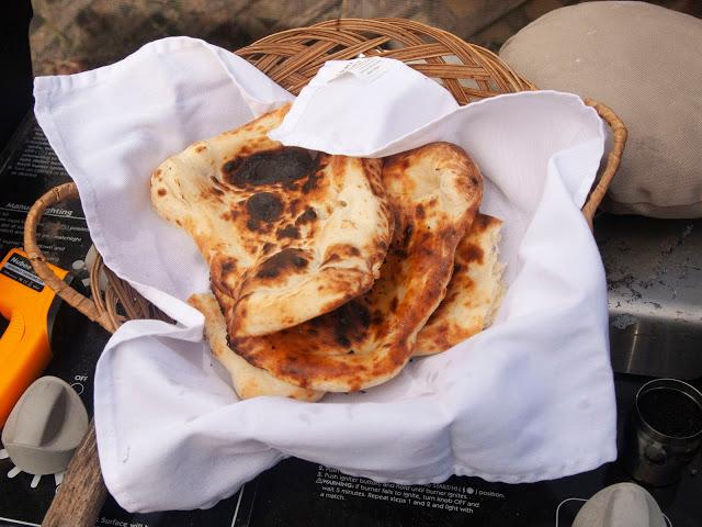 Indian flatbread made in Homdoor tandoor oven - Naan