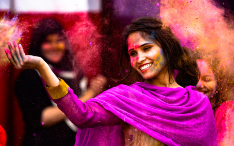 festival of colors celebration in india