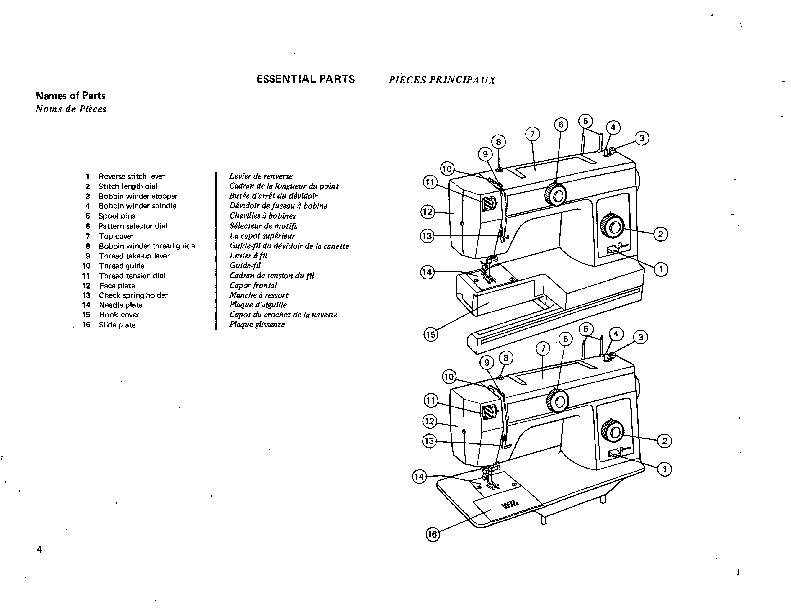 Janome 107 108 Sewing Machine Instruction Owners Manual