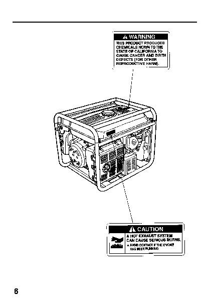 Honda Generator EW171 Owners Manual