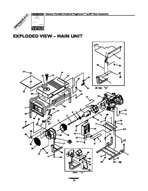 Generac Megeforce 6500 Generator Owners Owners Manual
