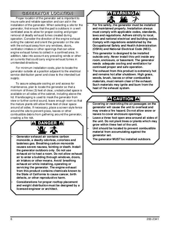 Coleman Powermate PM401211 PM400911 Generator Owners Manual