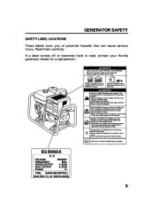 Honda Generator EG5000X Owners Manual