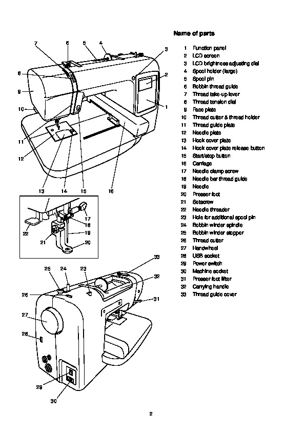 Janome MC 200E Sewing Machine Instruction Owners Manual