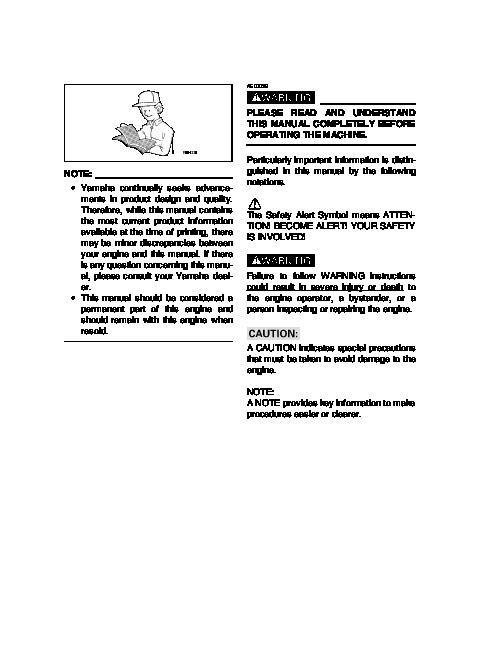Yamaha EF2800i YG2800i Generator Owners Manual