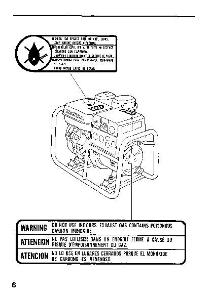 Honda es 3500 generator manual