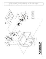 Coleman Powermate Maxa 3000 PM0523202 Generator Parts List