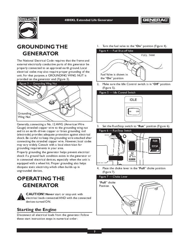 Generac 4000XL Generator Owners Manual
