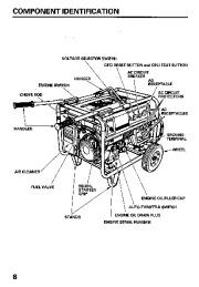 Honda Generator EB6500SX Owners Manual