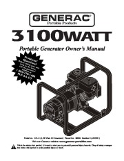 Generac Generator Manuals