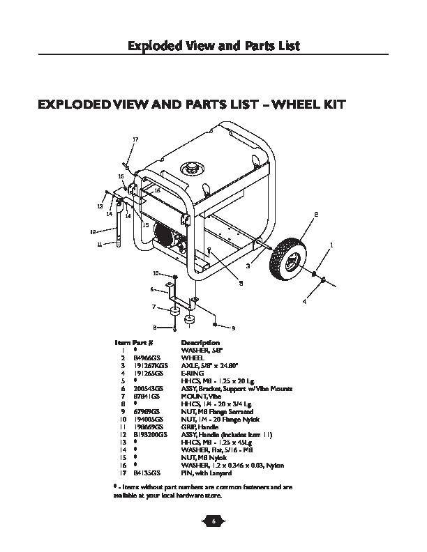 2006 Husqvarna 1365GN Generator Illustrated Parts List