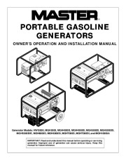 Electric Generator Manuals