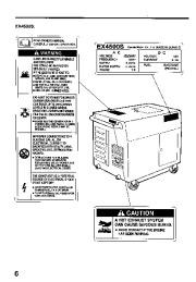 Honda Generator EX3300S EX4500S Owners Manual
