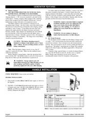 Coleman Powermate PM01103002 Generator Owners Manual