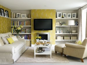 yellow inspiration rooms living interior lotta whole lovely livingroom via viewing designs pleasure walls grey wall lounge decor gray tv