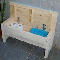 HOME DZINE Home DIY | Bathroom storage bench