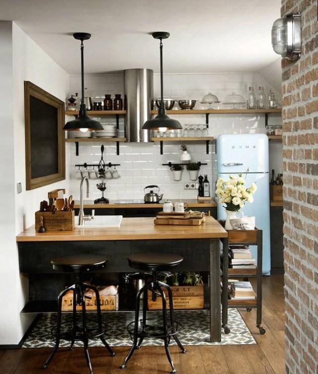 лофт дизайн інтер'єру кухні
