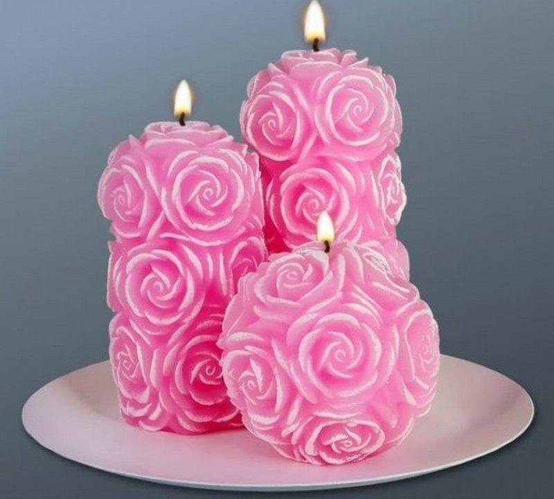 как сделать свечку своими руками романтическую