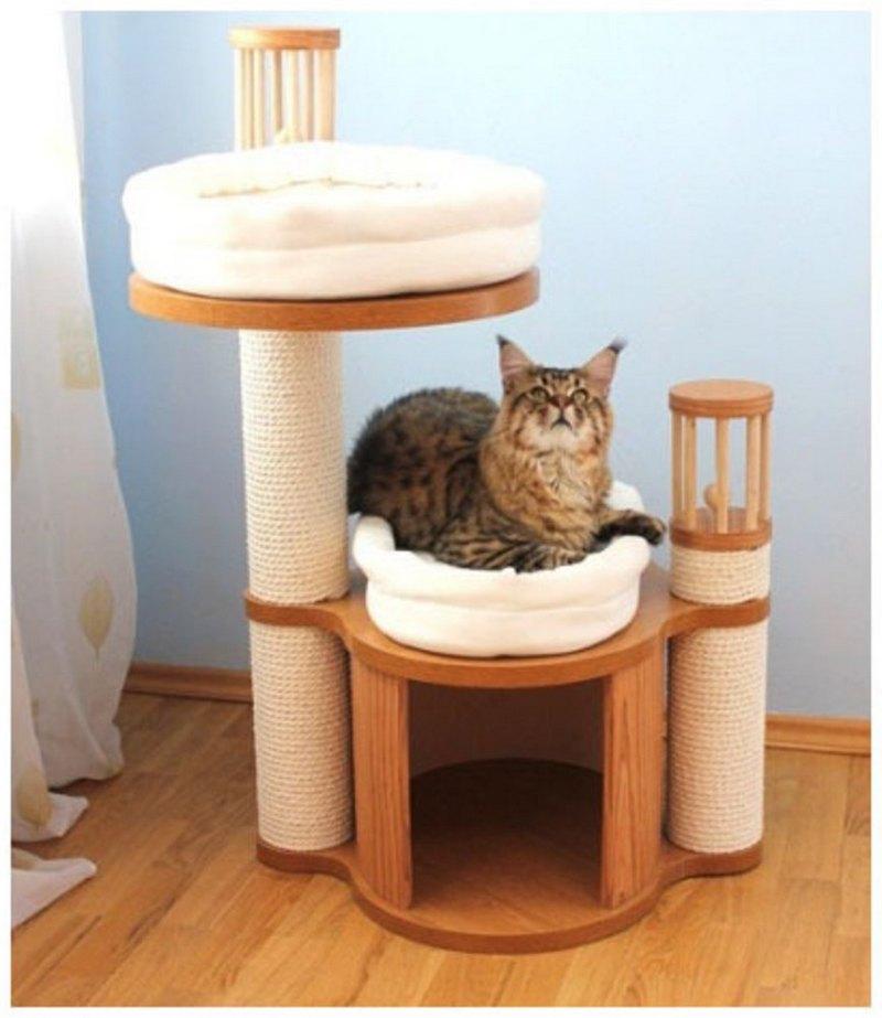 деревянный домик для кота