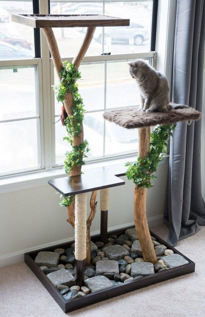 лазанка для кота с декоративным камнем
