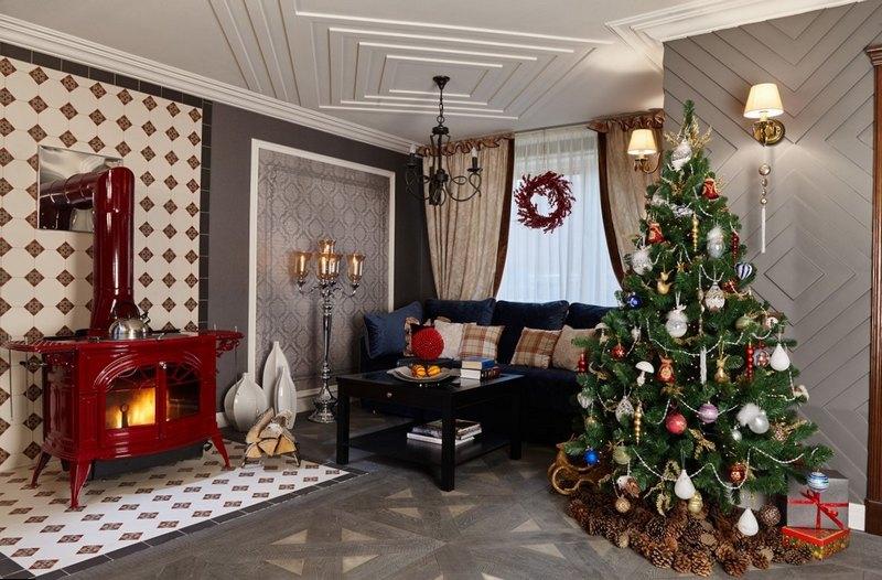 украсить квартиру на новый год
