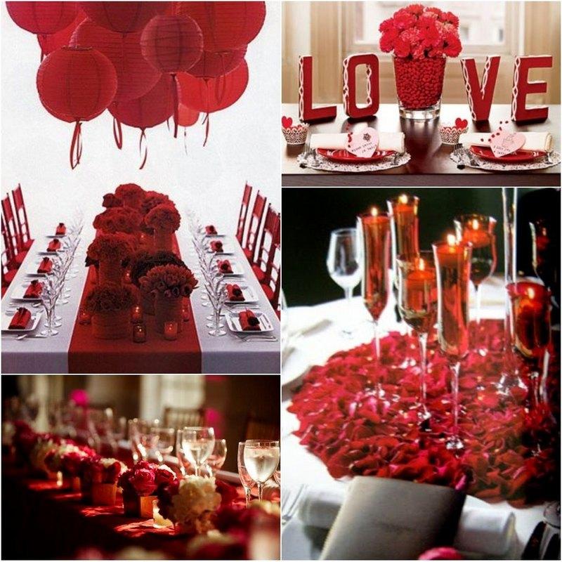 Сервировка столов ко Дню Святого Валентина