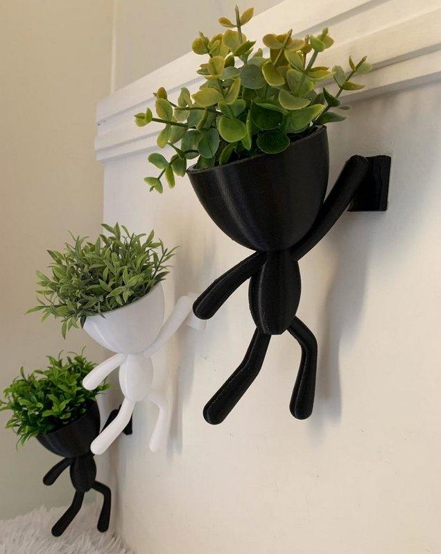 горшки на стену чорно - белые
