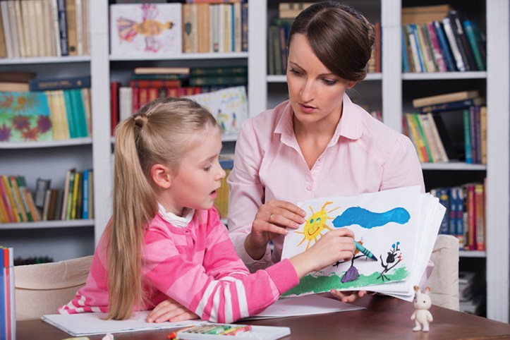 Girl with Art Therapist