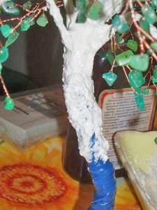 деревце березка из камней