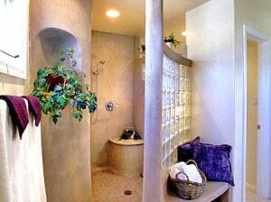 ванная стеклоблоки интерьер