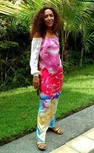 роспись одежда из батика