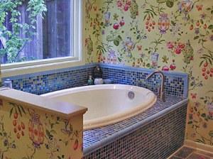 ванная роспись по стенам