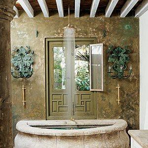 ванная средиземноморский стиль интерьер