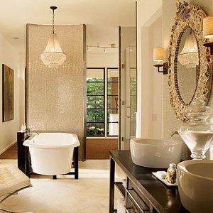 красивая ванная зеркало рама