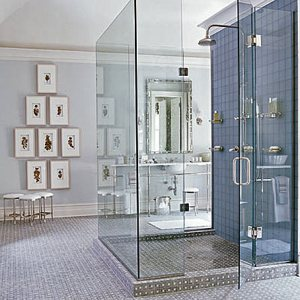 стеклянный душ интерьер ванной