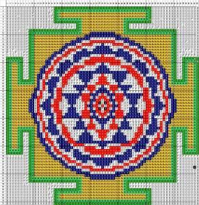 схема плетения янтры из бисера
