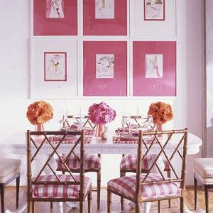 декорирование в розовой гамме