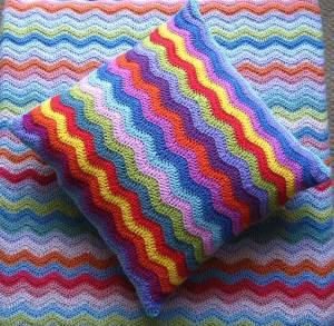 вязаный декор дома подушка плед