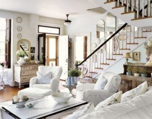 интерьер гостиной белый